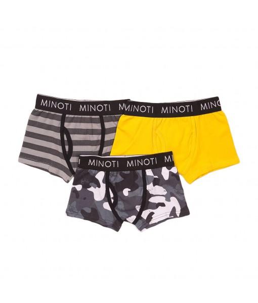 Σετ 3 μπόξερ Minoti αγόρι UNDIE5