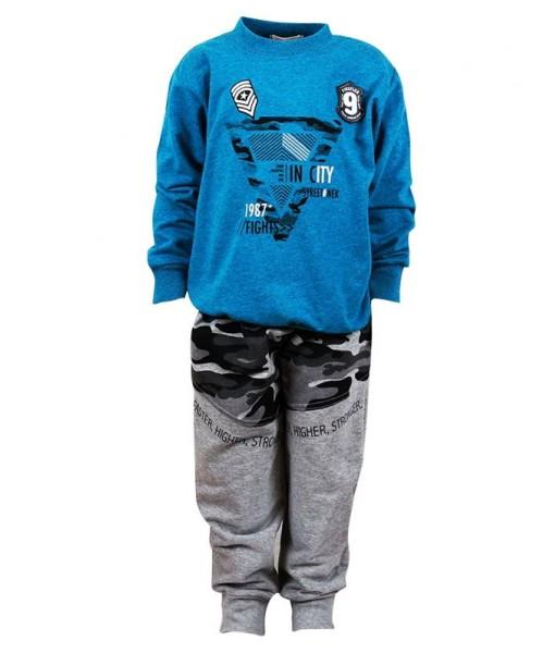 Σετ φόρμα φούτερ Nek Kids Wear αγόρι πετρόλ 143419
