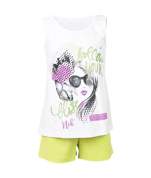 Σετ σορτς και μπλούζα κορίτσι N21319