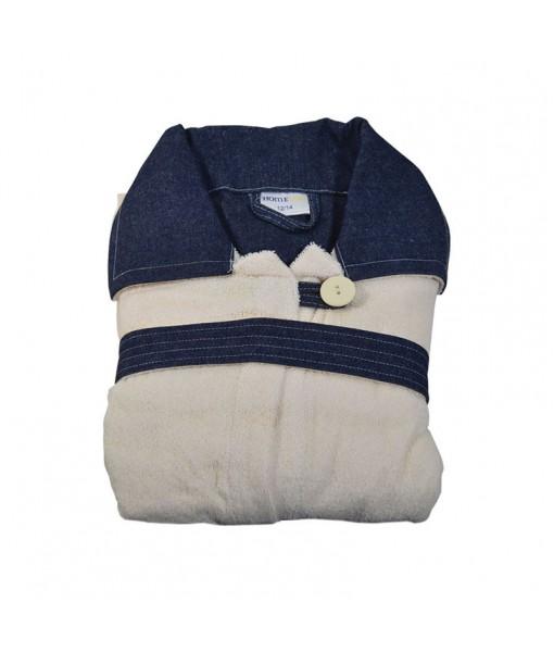 853 Παιδικό Μπουρνούζι 100% Cotton Εκρού - Εκρού, 10-12