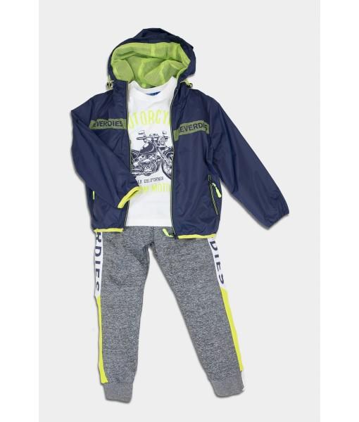 Σετ αντιανεμικό μπλούζα παντελόνι New College αγόρι 32-10109