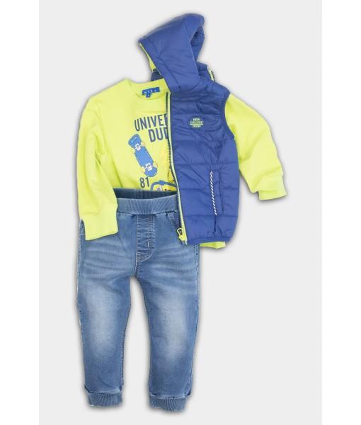 Σετ αμάνικο μπλούζα παντελόνι New College αγόρι 32-10219