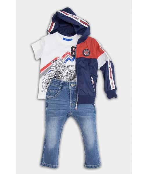Σετ αντιανεμικό μπλούζα παντελόνι New College αγόρι 32-10234