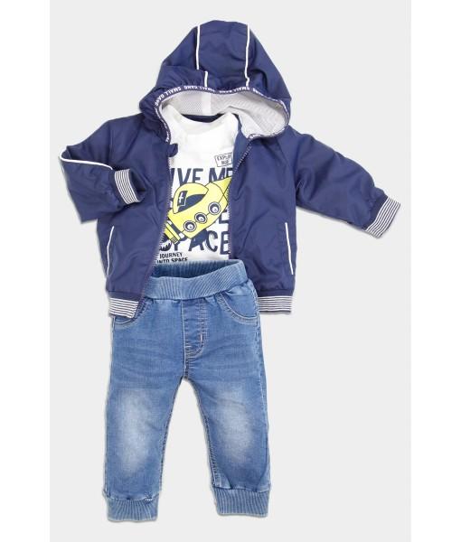 Σετ αντιανεμικό μπλούζα παντελόνι αγόρι New College 32-10301