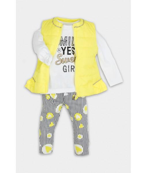 Σετ αμάνικο μπλούζα κάπρι κορίτσι New College 32-10609