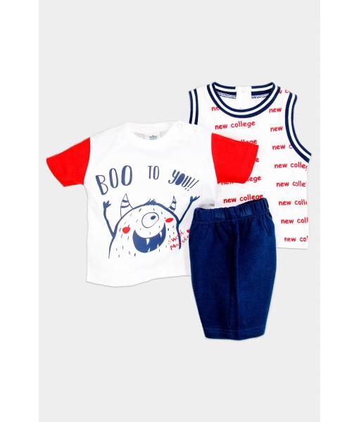 Σετ 2 μπλούζες και βερμούδα αγόρι New College 32-8812